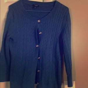 3/4 sleeve Talbots cable short sweater